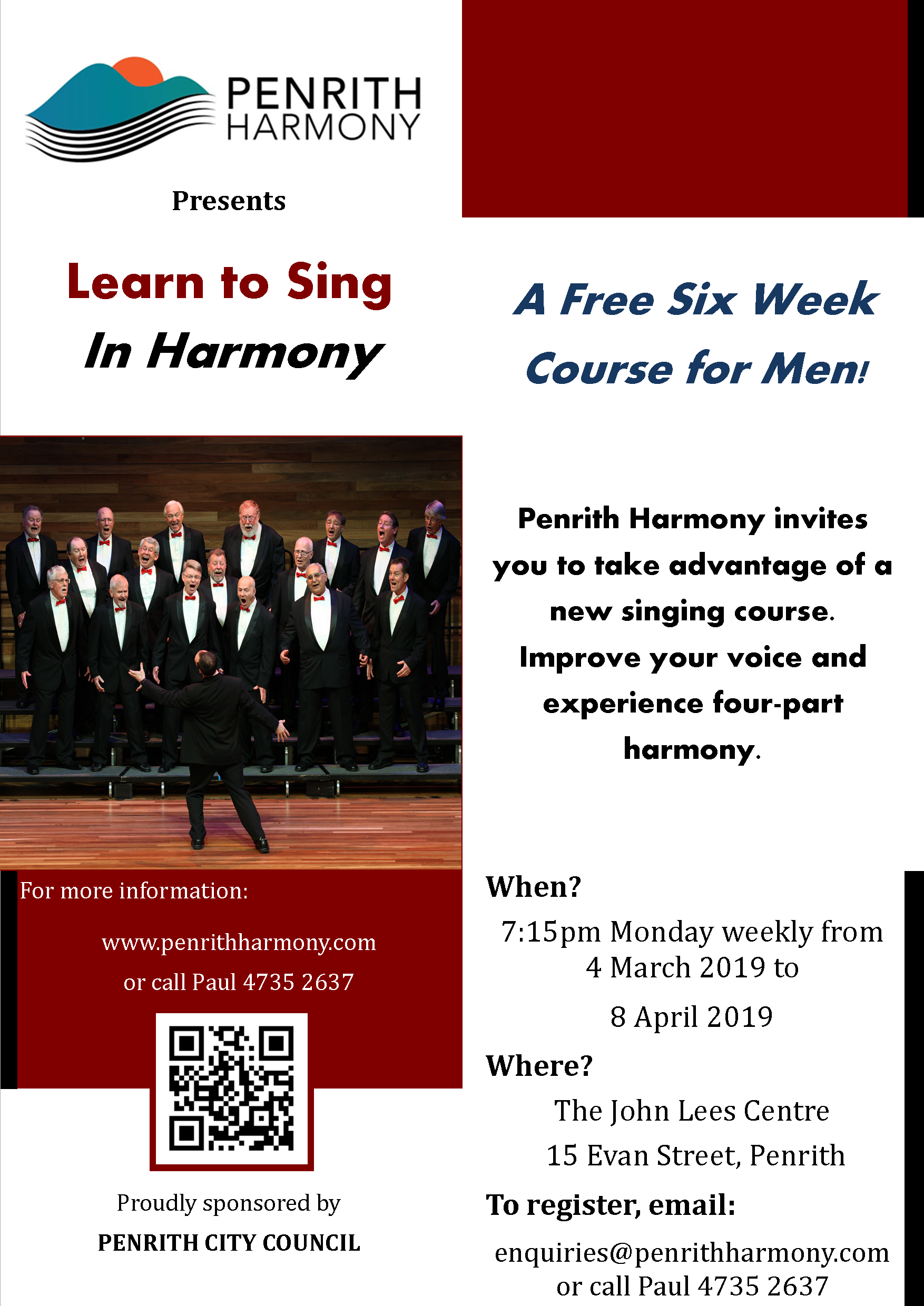 Learn to Sing in Harmony